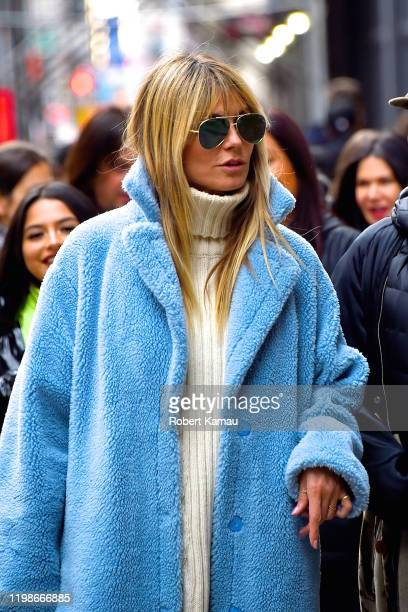 Heidi Klum seen out and about in Manhattan on February 4, 2020 in New York City.