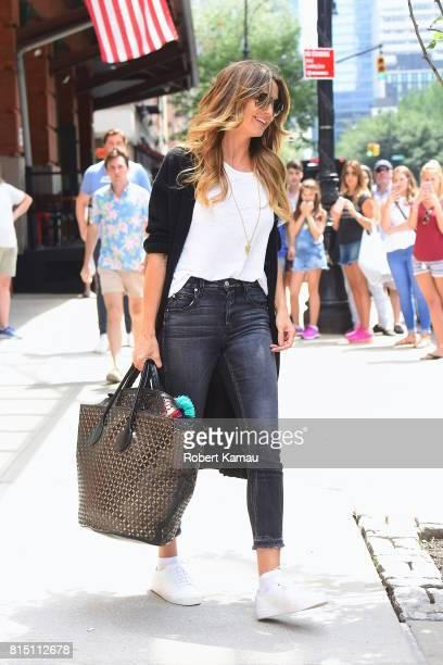 Heidi Klum seen out in Manhattan on July 15, 2017 in New York City.