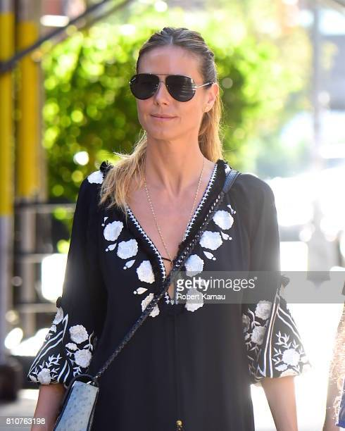 Heidi Klum seen out walking in Manhattan on July 7 2017 in New York City