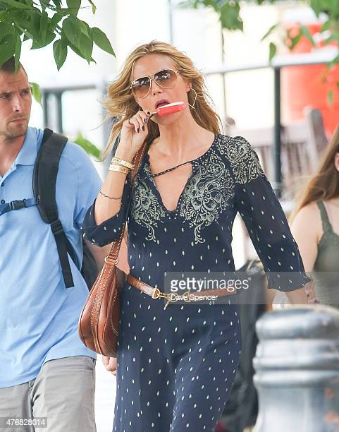 Heidi Klum seen out with her family daughters Lou Sulola Samuel Helene Boshoven Samuel and son Johan Riley Fydor Taiwo Samuel on June 11 2015 in New...