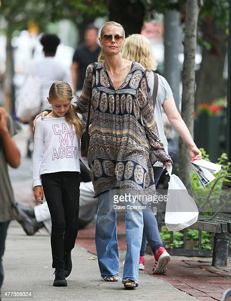 Heidi Klum seen walking with her daughter Helene Boshoven Samuel on June 16, 2015 in New York City.
