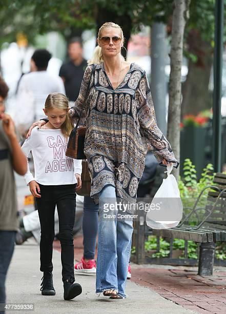 Heidi Klum seen walking with her daughter Helene Boshoven Samuel on June 16 2015 in New York City