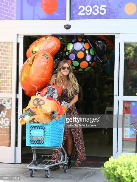 Heidi Klum shops at Party City Los Angeles on September 11, 2017 in Los Angeles, California.