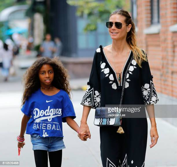 Heidi Klum takes daughter Lou shopping on July 7 2017 in New York City
