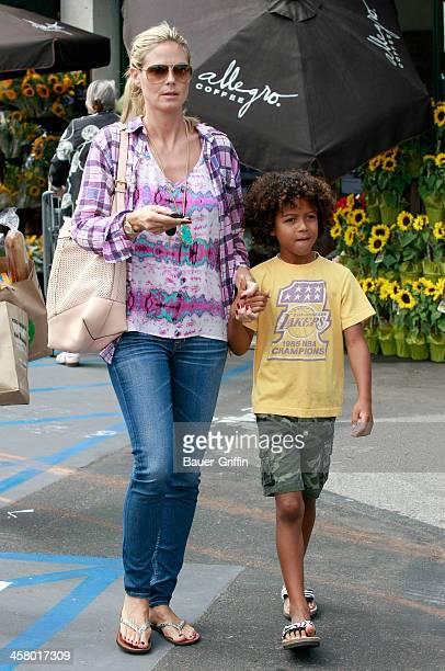 Heidi Klum takes her children Leni, Henry, Johan shopping on September 01, 2013 in Los Angeles, California.