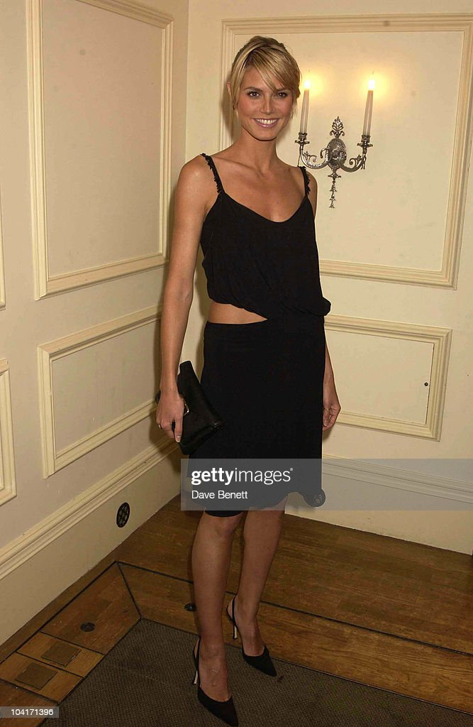 Heidi Klum, The Evening Standard Film Awards, At The Savoy Hotel In London