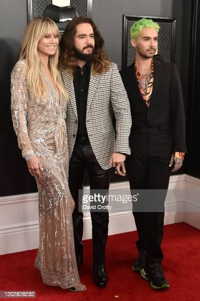 Heidi Klum Tom Kaulitz and Bill Kaulitz attend the 62nd Annual Grammy Awards at Staples Center on January 26 2020 in Los Angeles CA
