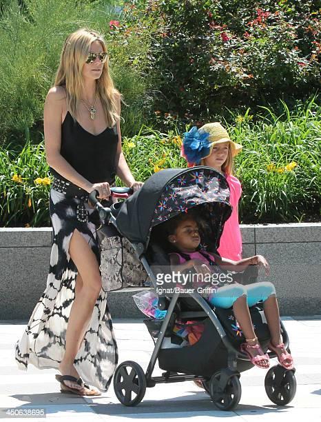 June 21: Heidi Klum with her children Leni Samuel and Lou Samuel are seen on June 21, 2013 in New York City.