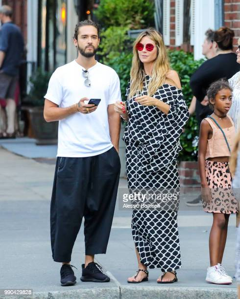 Heidi Klum with Tom Kaulitz and daughter Lou Samuel are seen in TriBeCa on July 2, 2018 in New York, New York.