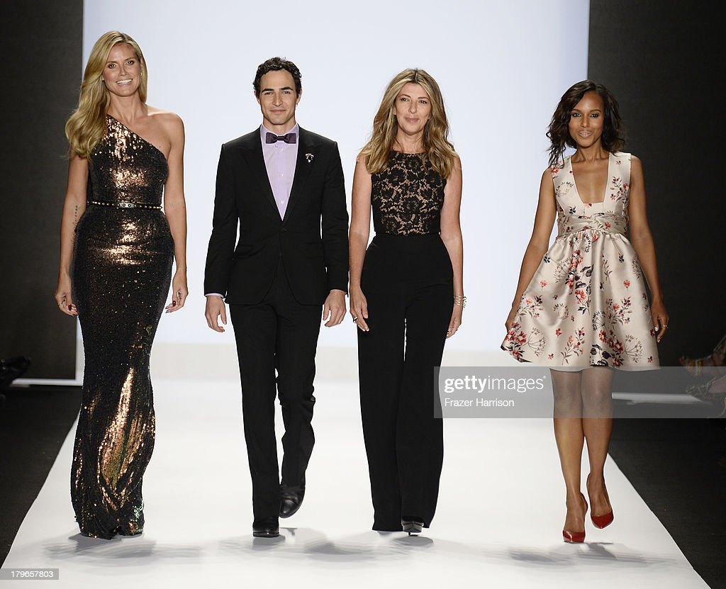 Heidi Klum Zac Posen, Nina Garcia and Kerry Washington walk the runway at the Project Runway Spring 2014 fashion show during Mercedes-Benz Fashion Week at The Theatre at Lincoln Center on September 6, 2013 in New York City.