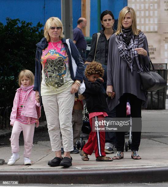 Heidi KlumErna Klum Henry Samuel and Leni Klum are seen on the Streets of Manhattan on June 22 2009 in New York CityEXCLUSIVE COVERAGE