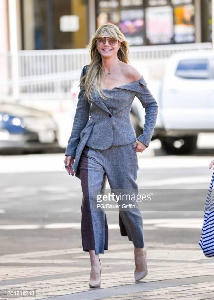 Heidi Klumi is seen on March 02, 2020 in Los Angeles, California.