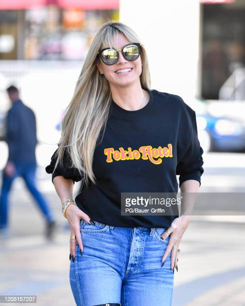Heidi Klumi is seen on March 04 2020 in Los Angeles California