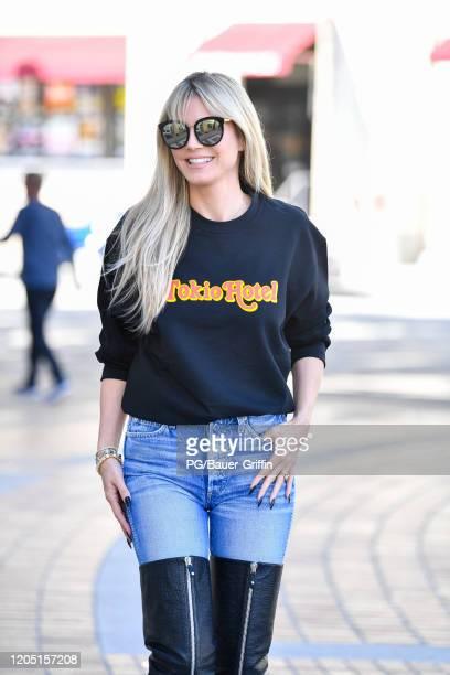 Heidi Klumi is seen on March 04 2020 in Los Angeles California