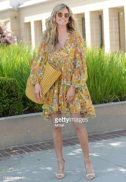 Heidi Kluml arrives at America's Got Talent filming on April 10, 2021 in Los Angeles, California.