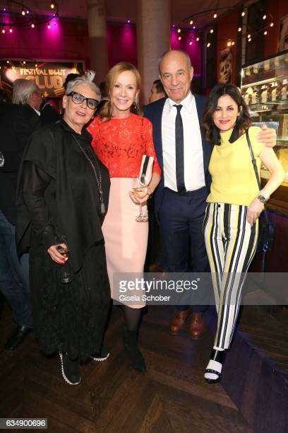 Heidi Kranz, Katja Flint and her former husband, Heiner Lauterbach and his wife Viktoria Lauterbach during the BUNTE & BMW Festival Night 2017 during...