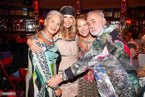 Heidi Kranz Ursula Karven Gabi Dohm and Udo Walz attend the Udo Walz Celebrates His 70th Birthday at BAR jeder Vernunft on July 28 2014 in Berlin...