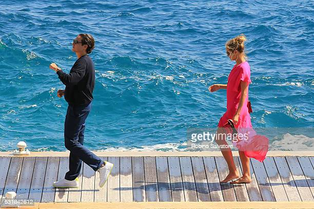 Heidi Kum and Vito Schnabel seen during the annual 69th Cannes Film Festival at on May 15 2016 in Cannes France