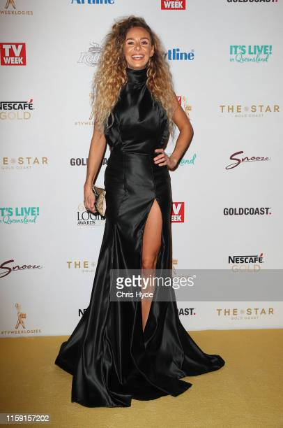 Heidi Latcham arrives at the 61st Annual TV WEEK Logie Awards at The Star Gold Coast on June 30 2019 on the Gold Coast Australia
