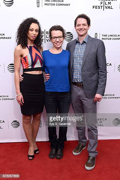 Heidi Lewandowski director Sophie Goodhart and producer Tyler Davidson attend the My Blind Brother premiere during the 2016 Tribeca Film Festival at...