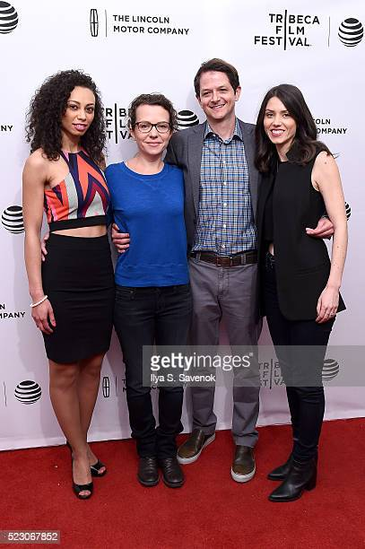 Heidi Lewandowski director Sophie Goodhart producer Tyler Davidson and actress Talia Tabin attend the My Blind Brother premiere during the 2016...
