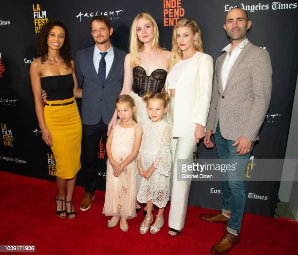 Heidi Lewandowski Tyler Davidson Elle Fanning Anniston Price Tinsley Price Lili Reinhart and Christopher Amitrano arrive for the screening of...