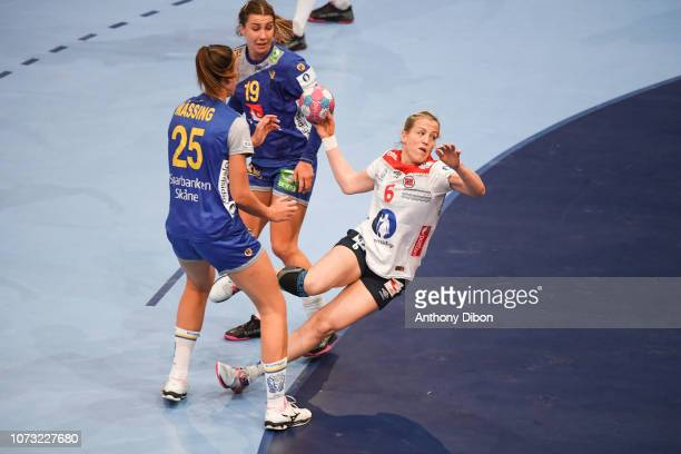Heidi Loke of Norway during the EHF Euro match between Sweden and Norway on December 14 2018 in Paris France