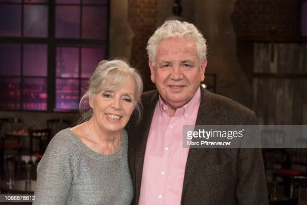 Heidi Mahler and Peter Millowitsch attend the Koelner Treff TV Show at the WDR Studio on November 30 2018 in Cologne Germany