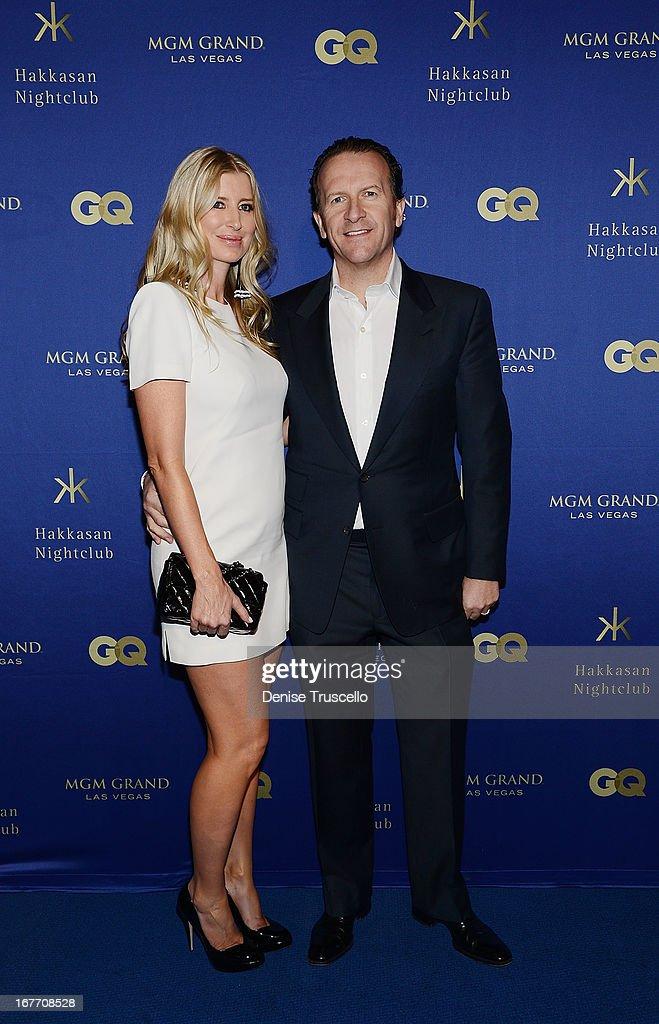 Heidi Moffitt and Neil Moffitt arrive at the grand opening of Hakkasan Nightclub at the MGM Grand on April 27, 2013 in Las Vegas, Nevada.Ê