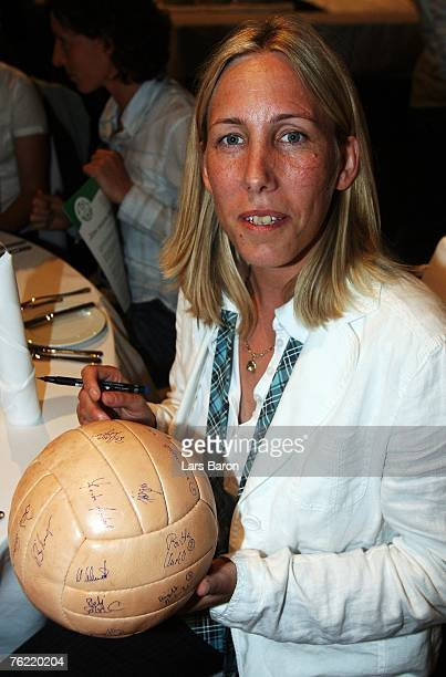 Heidi Mohr is seen during the 25th Anniversary Gala of Women's German National Team at the Oberwerth stadium on August 22 2007 in Koblenz Germany
