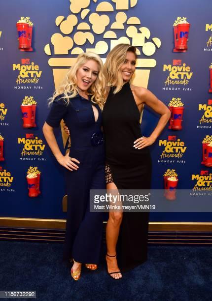 Heidi Montag and Audrina Patridge attend the 2019 MTV Movie and TV Awards at Barker Hangar on June 15 2019 in Santa Monica California