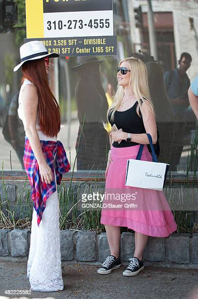 Heidi Montag and Phoebe Price are seen on July 28 2015 in Los Angeles California