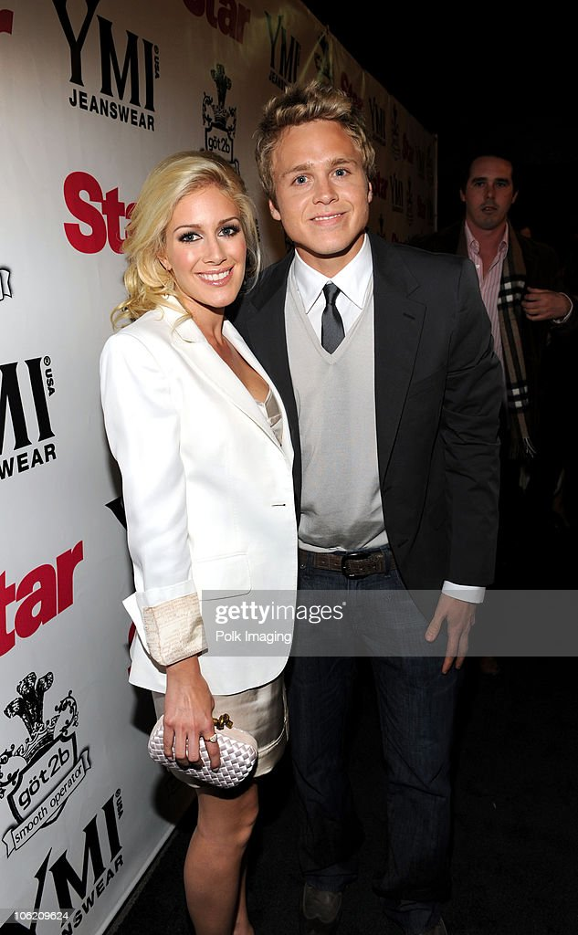 Heidi Montag and Spencer Pratt arrive to the Star Magazine Celebration of the Young Hollywood Issue at Apple Lounge in West Hollywood, CA on March 11, 2009.