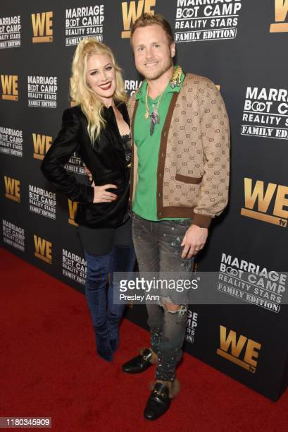 Heidi Montag and Spencer Pratt attend WE tv Celebrates the 100th Episode of the Marriage Boot Camp reality stars franchise and the premiere of...