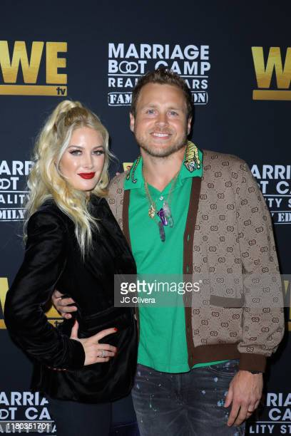 Heidi Montag and Spencer Pratt attend WE tv celebrates the premiere of 'Marriage Boot Camp' at SkyBar at the Mondrian Los Angeles on October 10 2019...