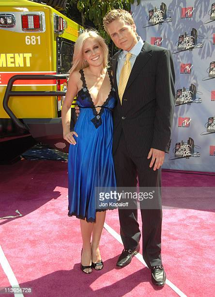 Heidi Montag and Spencer Pratt during 2007 MTV Movie Awards Arrivals at Gibson Amphitheater in Los Angeles California United States
