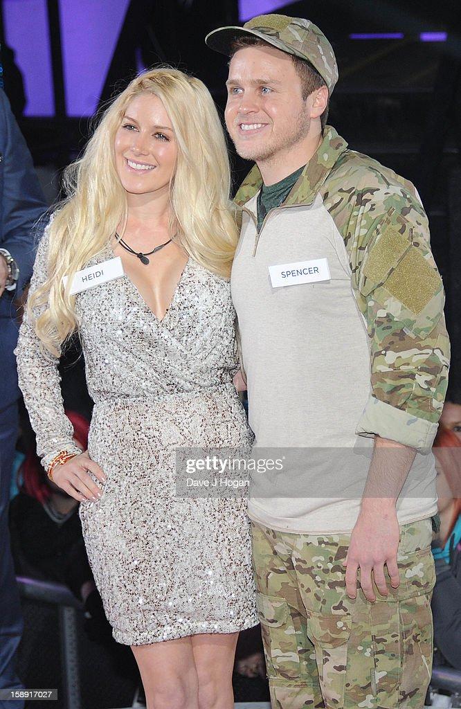 Heidi Montag and Spencer pratt enter the Celebrity Big Brother House at Elstree Studios on January 3, 2013 in Borehamwood, England.