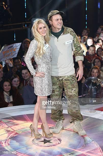 Heidi Montag and Spencer Pratt enter the Celebrity Big Brother House at Elstree Studios on January 3 2013 in Borehamwood England