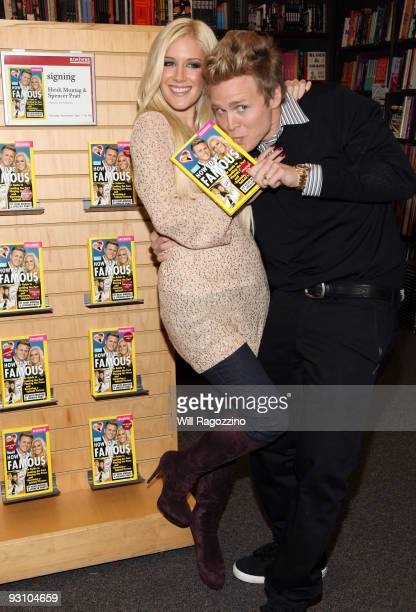 Heidi Montag and Spencer Pratt promote 'How to be Famous' at Borders Books Music Columbus Circle on November 16 2009 in New York City