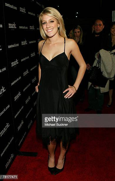 Heidi Montag arrives as mark celebrates new spokesperson Lauren Conrad's 21st birthday at Area on February 1 2007 in West Hollywood California