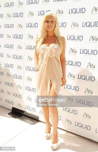 Heidi Montag arrives at Liquid Pool at Aria at CityCenter on April 10 2010 in Las Vegas Nevada