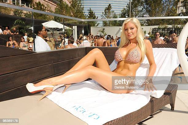 Heidi Montag attends Liquid Pool at Aria at CityCenter on April 10 2010 in Las Vegas Nevada