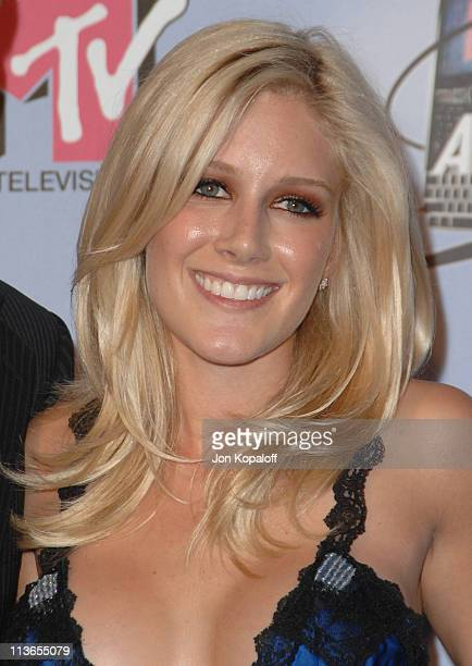 Heidi Montag during 2007 MTV Movie Awards Press Room at Gibson Amphitheater in Los Angeles California United States