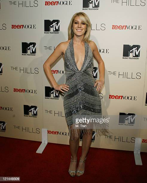 Heidi Montag during Launch Party to Celebrate the Second Season of the MTV Series The Hills at Area in Hollywood California United States