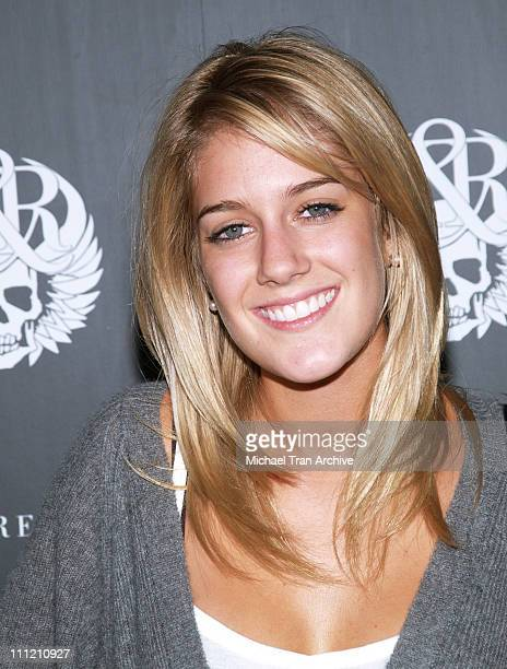 Heidi Montag during Rock Republic Spring 2007 Preview Party Red Carpet at Area in West Hollywood California United States