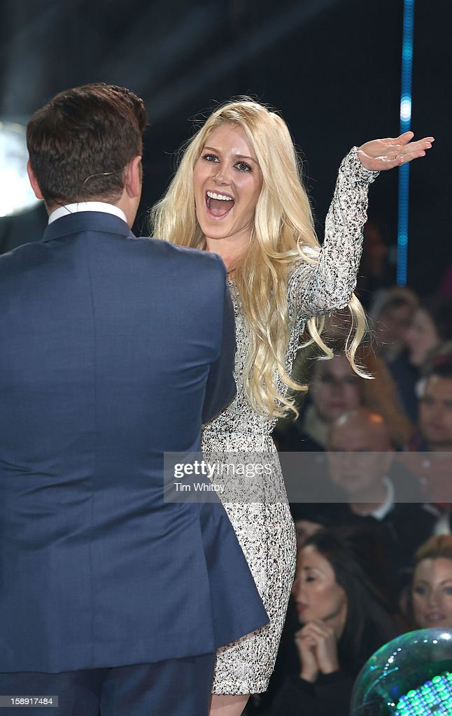 Heidi Montag enters the Celebrity Big Brother House at Elstree Studios on January 3, 2013 in Borehamwood, England.