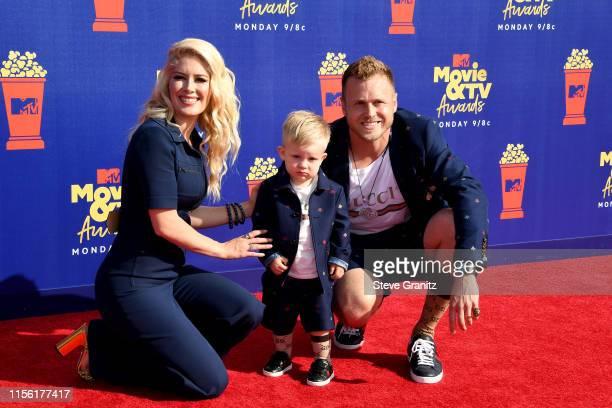 Heidi Montag Gunner Pratt and Spencer Pratt attend the 2019 MTV Movie and TV Awards at Barker Hangar on June 15 2019 in Santa Monica California