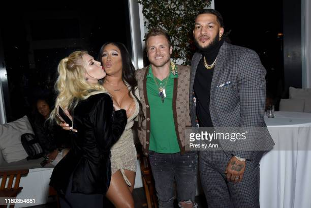 Heidi Montag Natalie Nunn Spencer Pratt and Jacob Payne attend WE tv Celebrates The 100th Episode Of The Marriage Boot Camp Reality Stars Franchise...