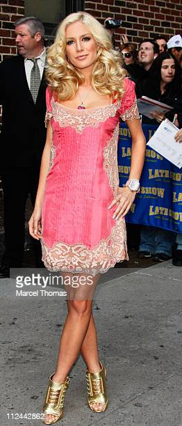 Heidi Montag visits 'The Late Show With David Letterman' on April 30 2008 in New York City New York