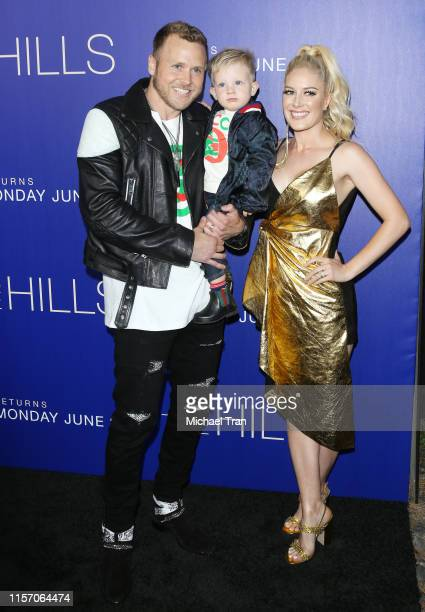 Heidi Montag with Spencer Pratt and their son Gunner Stone attend the Los Angeles premiere of MTV's The Hills New Beginnings held at Liaison on June...